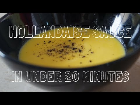 How to make Easy NO-Blender Hollandaise Sauce - in Under 5 minutes!
