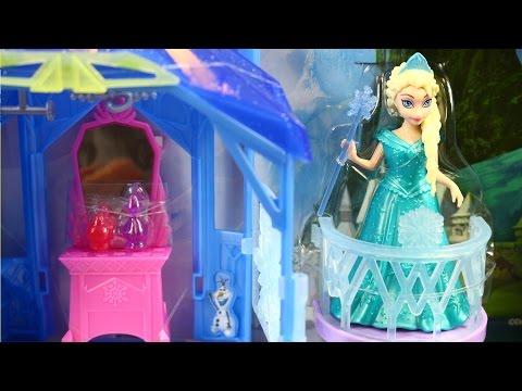 Flip 'N Switch Castle and Elsa Doll / Zamek Elsy - MagiClip - Disney Frozen - Mattel - CJV52 CCX95