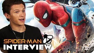 SPIDER-MAN: HOMECOMING Interview: Tom Holland wears Thongs?! (2017)