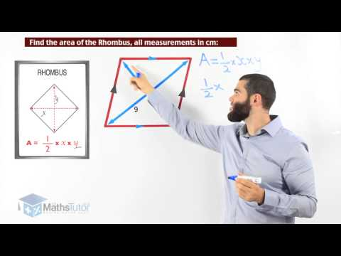 Maths online - Area of a Rhombus and Kite