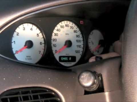 Speedometer reset procedure