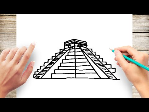 How to Draw Mayan Pyramid of Chichen Itza