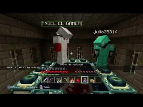 Minecraft: Xbox 360 Edition -  ¡ Matando al Ender Dragon con la banda ! Fail o Win ? - Portal al END
