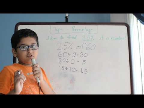 How to find 2.5% of any number (Percentage ) by Yotam Chopra