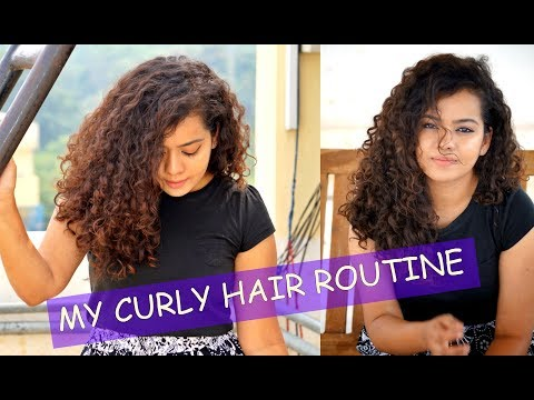 My Updated Curly Hair Routine with Homemade Flaxseed Gel | Indian Curly Hair Routine