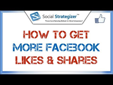 Facebook Fan Page Tutorial - How To Get More Facebook Likes & Shares