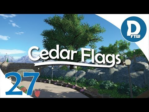 Let's Design Cedar Flags Ep. 27 - Natural Oasis, New Plaza, and Landscaping Work - Planet Coaster