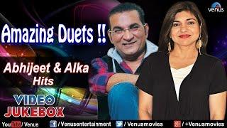 Amazing Duets !! ~ Abhijeet & Alka Yagnik - Bollywood Hits || Video Jukebox