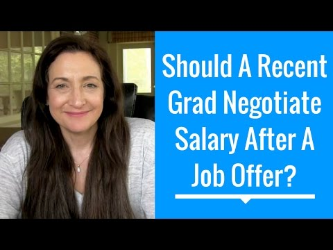 Should A Recent Grad Negotiate Salary After Getting A Job Offer? |#HelpMeJT