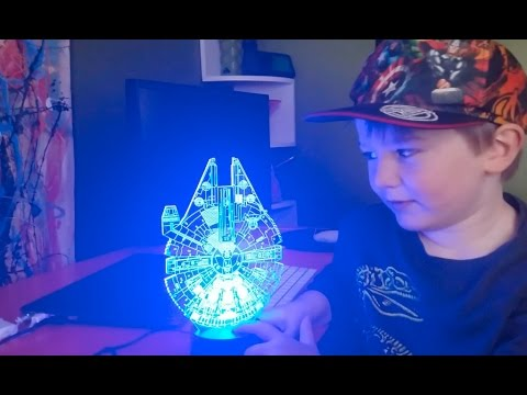 Millennium Falcon 3D Color Light Review