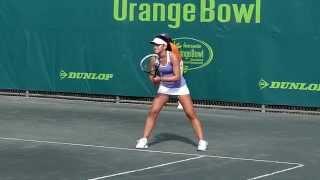 Bianca Vanessa Andreescu - Orange Bowl 2014 - Slow motion video
