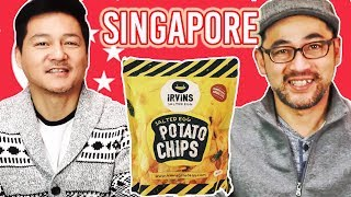 Japanese Trying Snacks from SINGAPORE
