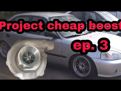 Project cheapest turbo build EVER ek Civic D16 (wastegate