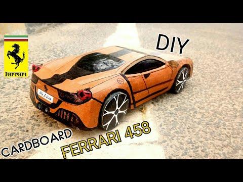 how to make a car || FERRARI CAR || AMAZING DIY CARDBOARD CAR