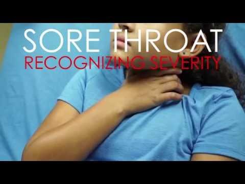 Sore Throat: Recognizing Severity