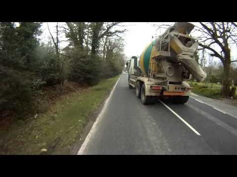 RA57HLK - dubious pass by a cement mixer