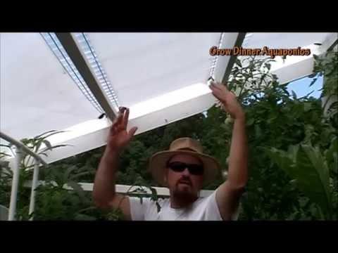 DIY Retractable Shade Cover 4 Aquaponics Greenhouse 2 Beat Heat