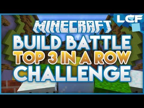 Build Battle - 3 In a row Challenge! (minecraft Minigame)