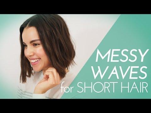 Messy Waves with a Flat Iron! Hair Tutorial | Ingrid Nilsen