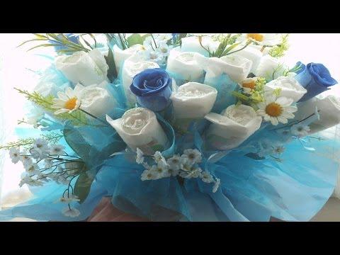 ❀Bouquet de pañales p/ Baby Shower / Baby  diaper bouquet Baby Shower♥ ♥