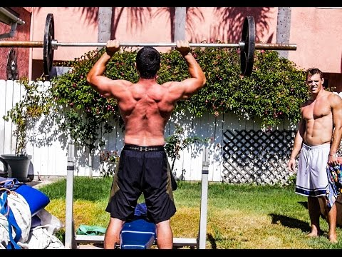 Strength Project Backyard Conditioning W/Simonster : Weightlifting, Calisthenics and Flips
