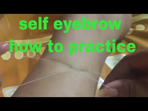 how to self eyebrow threading for beginners pluck your eyebrows perfectly at home