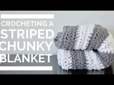 Crocheting a Striped Blanket