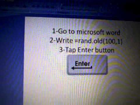 Microsoft Word nice trick