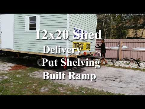 12 x 20 storage Shed - built shelving and ramp