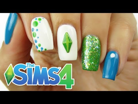 THE SIMS 4 NAIL ART | CutePlay Countdown #4!