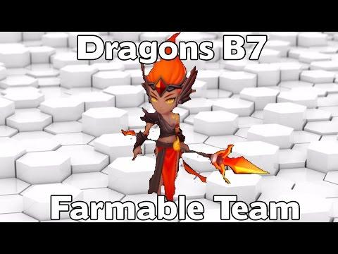 Summoners War - Dragons B7 Farmable Team