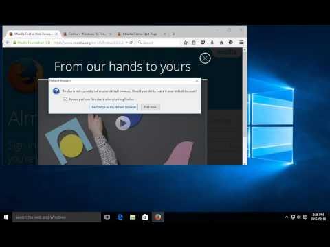 Windows 10 - Install Firefox as Default Browser - Setup Firefox Browser