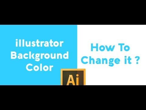 Illustrator Background Color - Quick Way To change