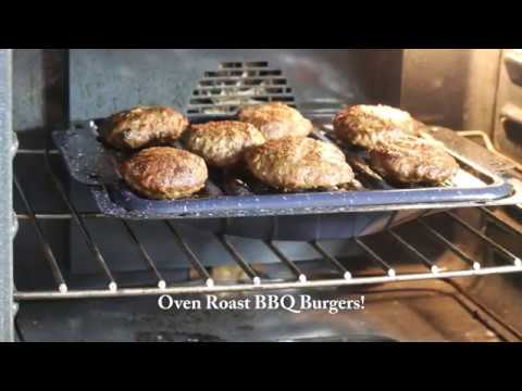 BBQ Winter Burgers Cooked in Oven Recipe!