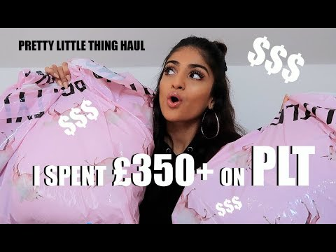 I SPENT £350+ ON PRETTY LITTLE THING!!!!! TRY ON HAUL | Kim Mann