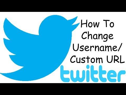 How To Change Username/Custom URL In Twitter
