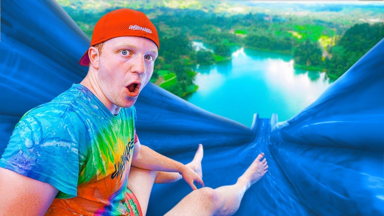 The BIGGEST Backyard WATER SLIDE Challenge!