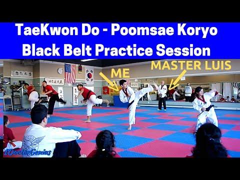 TaeKwon Do Black Belt practice session - Poomsae Koryo with 1DoctorGenius