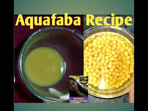 Aquafaba Recipe With Chickpeas | Egg Replacer