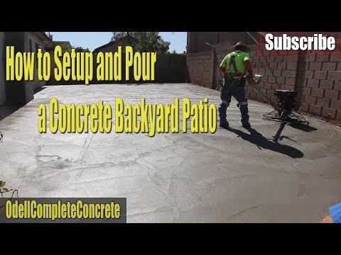 How to Setup and Pour a Concrete Backyard Patio #4