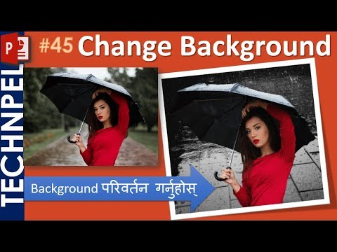 How to change photo background in PowerPoint-Change picture background color in PowerPoint in Nepali