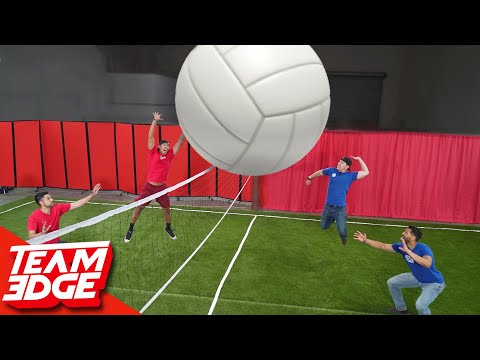 Giant Volleyball Challenge!!