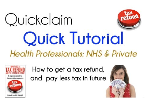 Health Employees Quickclaim Tax Refund Tutorial