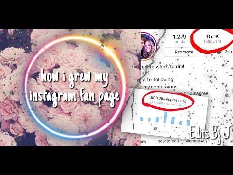How I Grew My Instagram Fanpage!