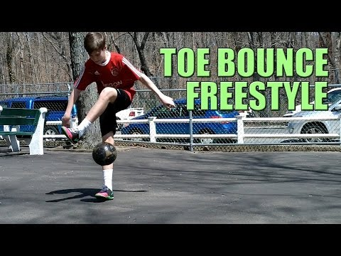 Toe Bounce Tutorial | Freestyle Soccer / Football Juggling Trick / Skill (In Air)