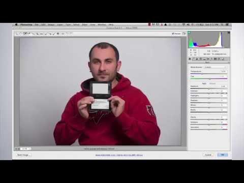Cusotm white balance on camera raw ( طريقة عمل توازن للالوان )