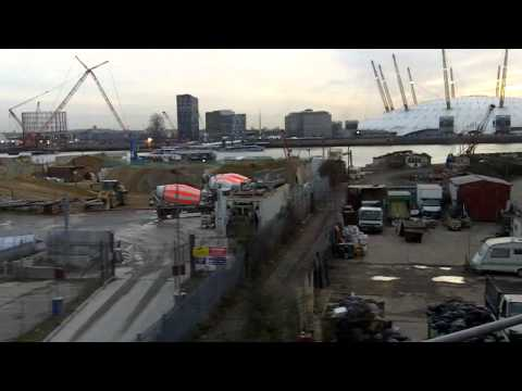 O2 Arena as seen from the DLR