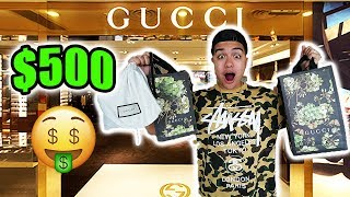 THE $500 GUCCI OUTLET CHALLENGE!! (What did we buy for $500?)