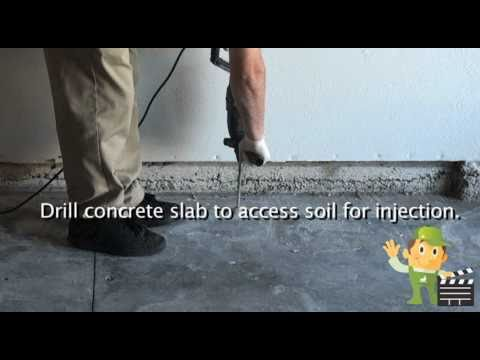 Subterranean Termite Slab Injection and Foaming