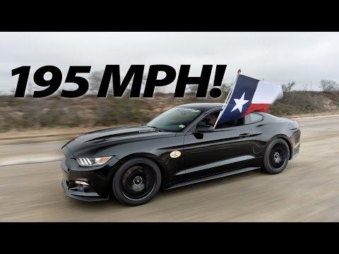 2015 Hennessey Mustang Runs 195 MPH!